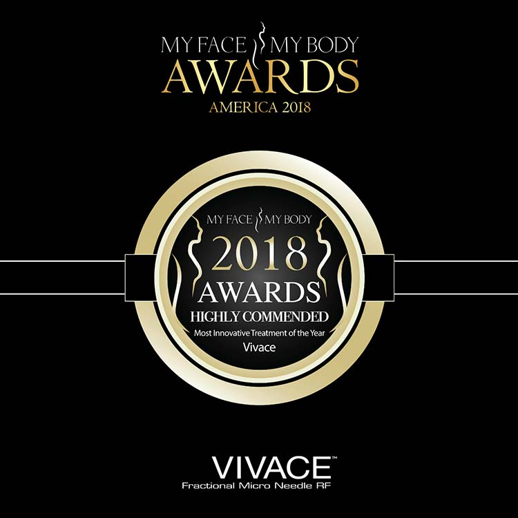 My Face, My Body Awards 2018 - Vivace Highy Recommended - Most Innovative Treatment of The Year