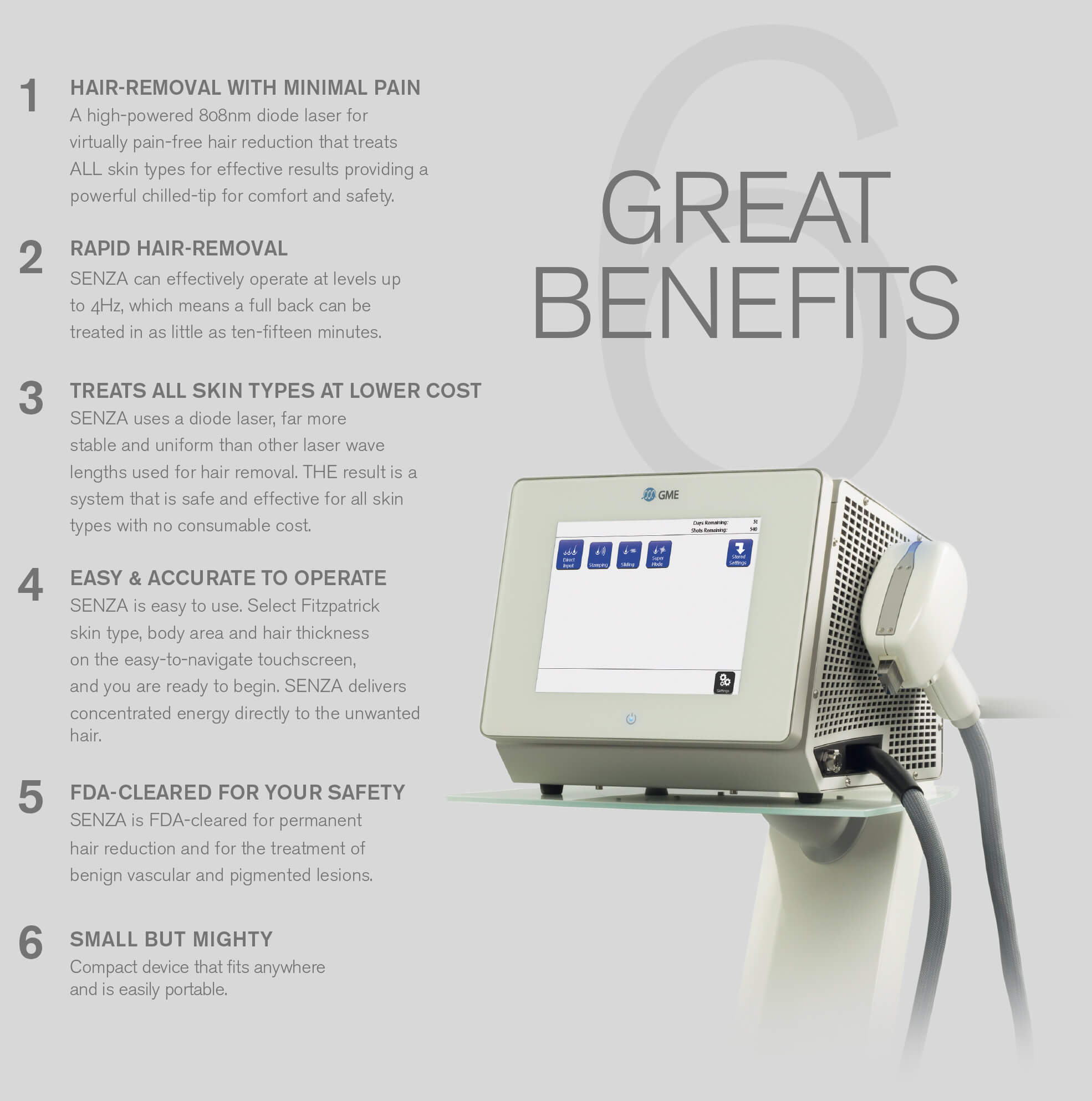 Senza Laser Hair Removal Aesthetics Biomedical